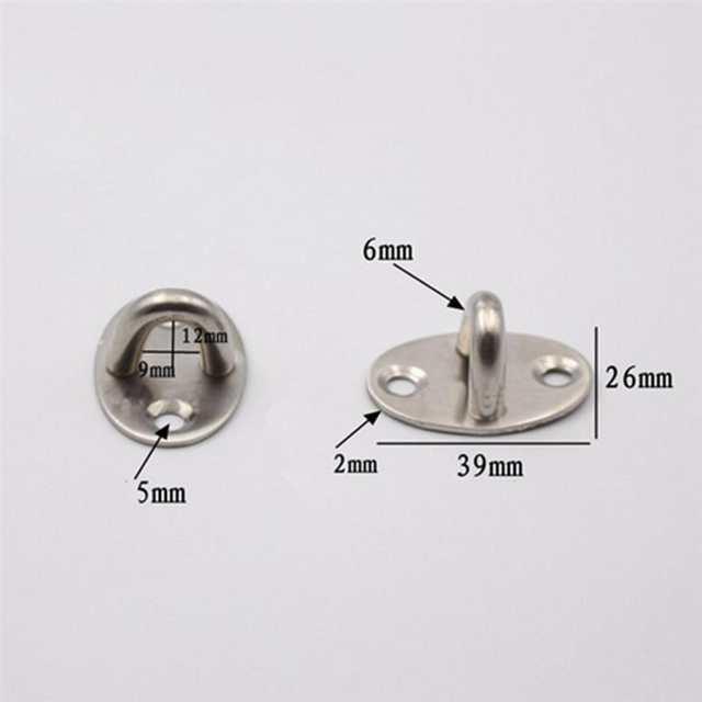 5pcs Stainless Steel U Design Screws Mount Ceiling Hook