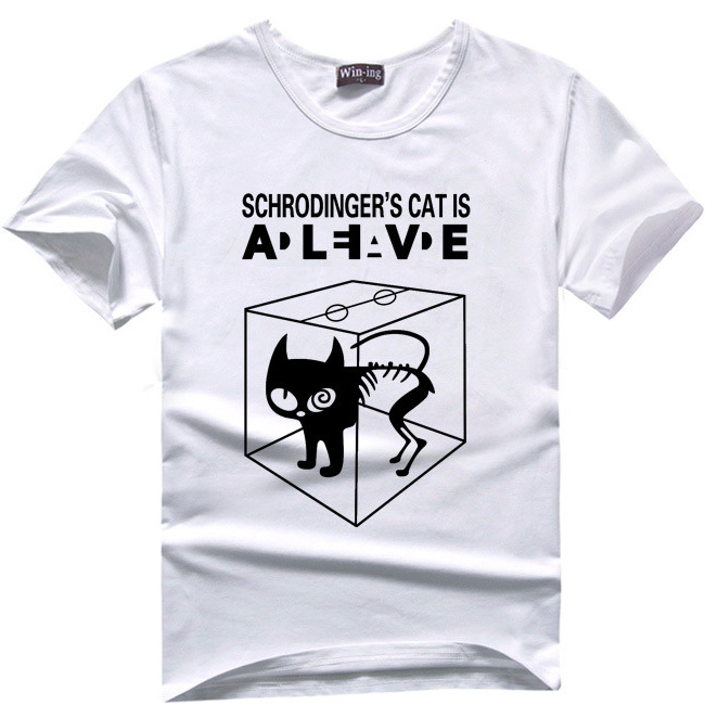 Aliexpress.com : Buy Schrodingers Cat T shirt science geek t ...