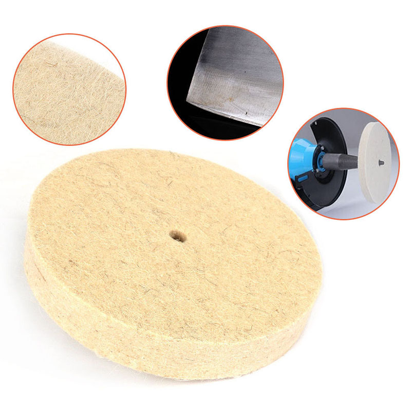 Thickness Drill Grinding Wheel Buffing Wheel <font><b>Felt</b></font> Wool Polishing Pad Abrasive Disc For Bench Grinder Rotary Tool <font><b>10mm</b></font> Diameter image