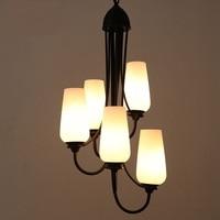 Criativo escada em espiral Vários Lustre villa penthouse escada piso simplestaircase longo lâmpada lâmpadas de ferro|iron lamp|long lamp|lamp iron -