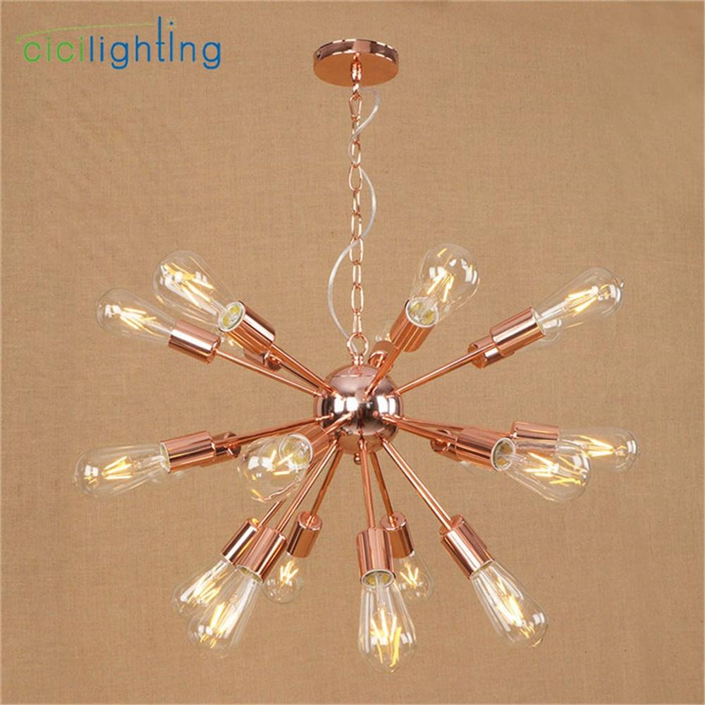 Haute qualité plaqué lustre moderne arbre branche araignée chaîne lustre lustres 9/12/15/18/21 lumière Art décor suspension - 3