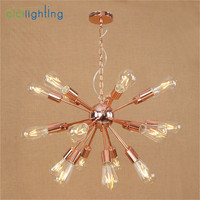 High Quality Plated Chandelier Modern Tree Branch Spider Chain lustre Chandeliers 9/12/15/18/21 light Art decor hanging lamp