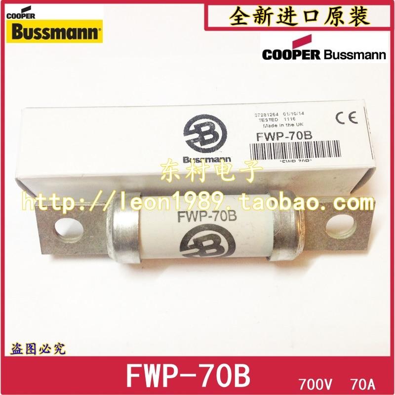 Original US Bussmann Fuses FWP-60B 60A FWP-70B 70A 700V 200Ka free shipping 2018920 west ba fuses nh00 700 v 350 a 250 a fuse ar 200 ka