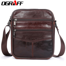 OGRAFF Men Bag Small Shoulder Bags Handbags Genuine Leather Messenger Cross Body Office For Male Luxury Designer