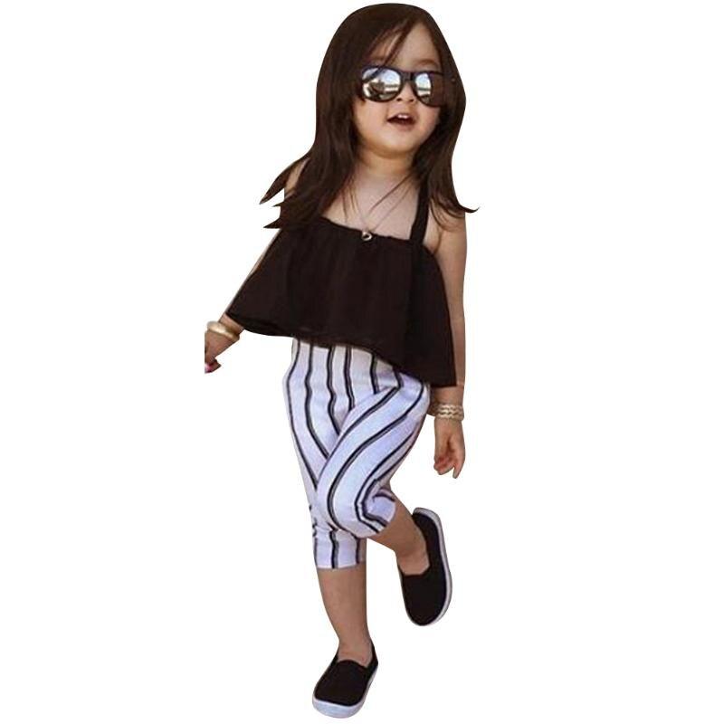 Obligatorisch Mode Baby Kinder Crop Tops Mädchen Sommer Gaze Strumpf Tops Sonne-topbaby Mädchen Kleidung Für 1-2 Jahre Ausgezeichnete QualitäT In