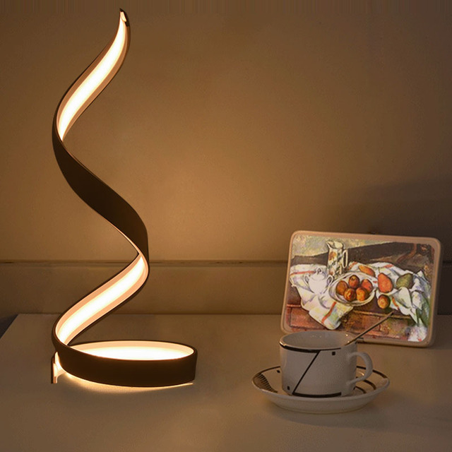 Creative flame shape Led desk light lamp, modern minimalist Led night light lamp with aluminum shade for bedroom children room