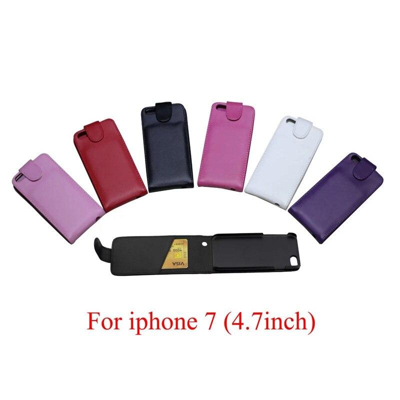 ჱTeléfono Bolsas para iPhone 7 teléfono caso volver coque pu cuero ...