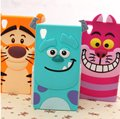 3D Cute Cartoon Animal Sulley Tiger Cat Soft Silicone Rubber Phone Cover Case For Sony Xperia C3 C4 C5 M4 Aqua M5 Z2 Z3    MG1