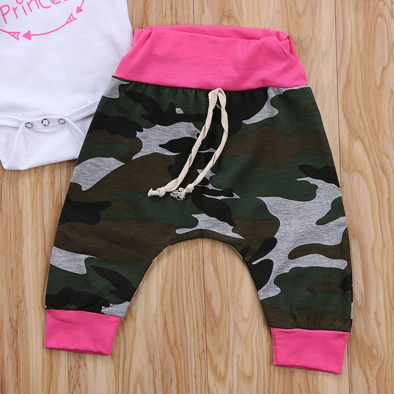 b368ee22 Emmababy Newborn Baby Girl Camouflage Clothes Daddy's Little Princess Romper  Bodysuit Long Pant Headband 3PCS Kids Clothing Set-in Clothing Sets from  Mother ...