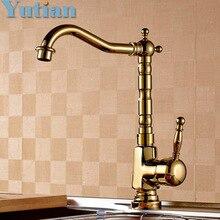 Бесплатная доставка кухонный кран золото ванной бассейна раковина смеситель крана, Torneira YT-6049