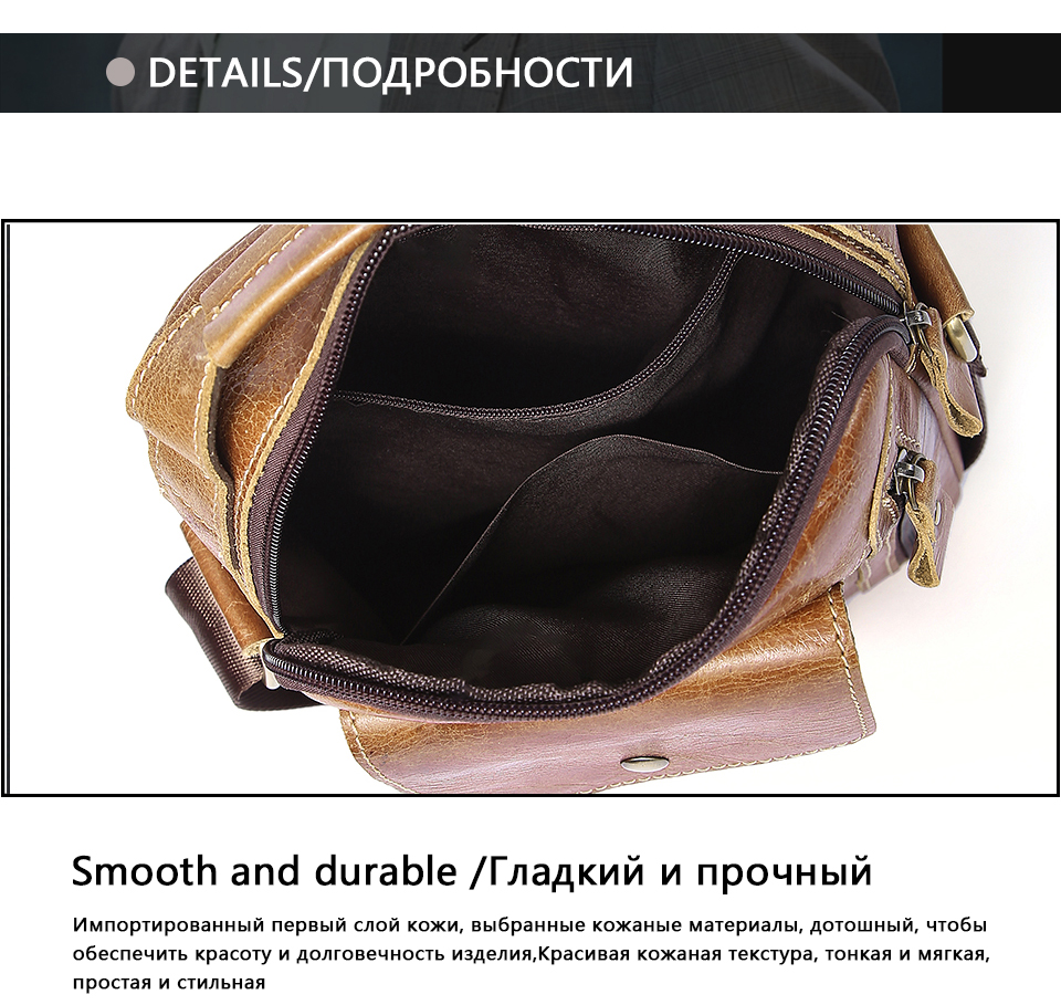 a92054fef1 ... Genuine Leather Men Bags Oil Leather Messenger Bag Men Shoulder  Crossbody Bags Male Flap Small Handbags ...