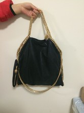 Factory sale shaggy deer golden chain PVC material fold-over size 37cm Luxury Totes luxury cusual Tote 37cm