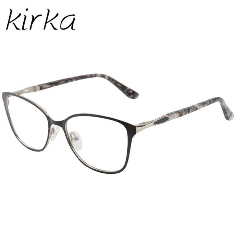 6c95d51b0021 ... Kirka Eyeglasses Frame Metal Optical Retro Black Women Glasses Frame  Fashion Cat Eye Type Reading Glasses ...