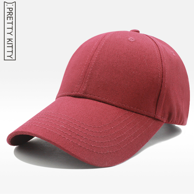 e751bac6b45 PRETTY KITTY High quality 100% cotton Women Casual Baseball Cap Dad Hat  Deus Cap Pink Black Lady Ovo Drake Hats black Cap Men