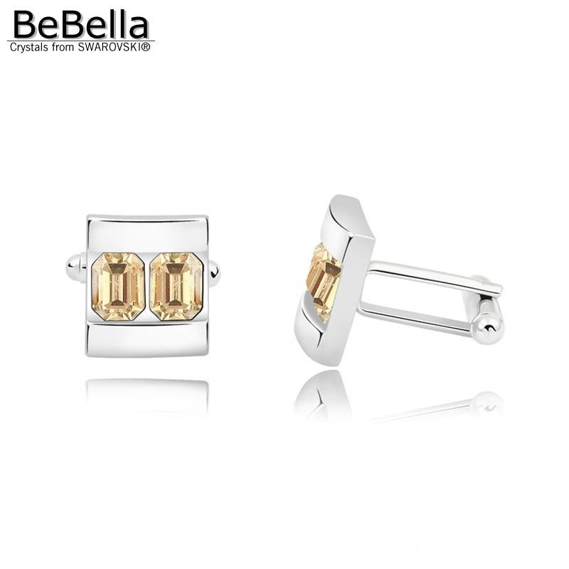 BeBella 5 цветов запонки с кристаллами сделаны с элементами Swarovski для подарка на День отца - Окраска металла: Crystal GSHA