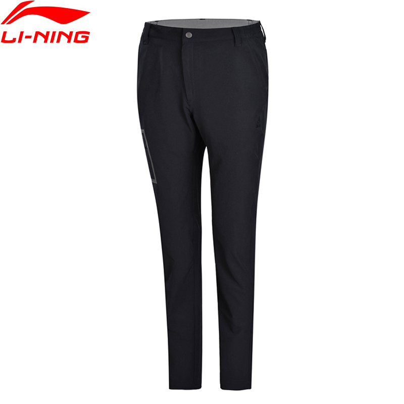 Li-Ning Women Outdoor Explore Quick Dry Pants AT PROOF SMART Regular Fit Zip Woven Sports Pants AEKN002 WKY152(China)