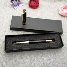 Nice writing Black Fountain Pens classical design pen 20pcs custom free with any logo design/text/website/address