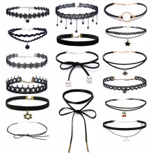 2018 Charm Fashion Style Choker Necklace Black Lace Leather Velvet Strip Women Collar Party Jewelry Neck Accessories Chokers