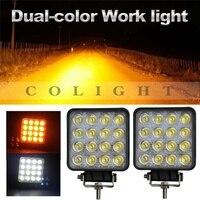 CO LIGHT 4 3 Inch 48W LED Work Light 12V 24V Dual Color Led Beams For