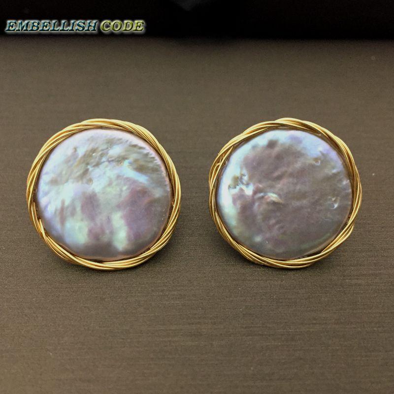 2018 NYHET Design Handgjord slingrande grå färgrik barock pärla - Fina smycken