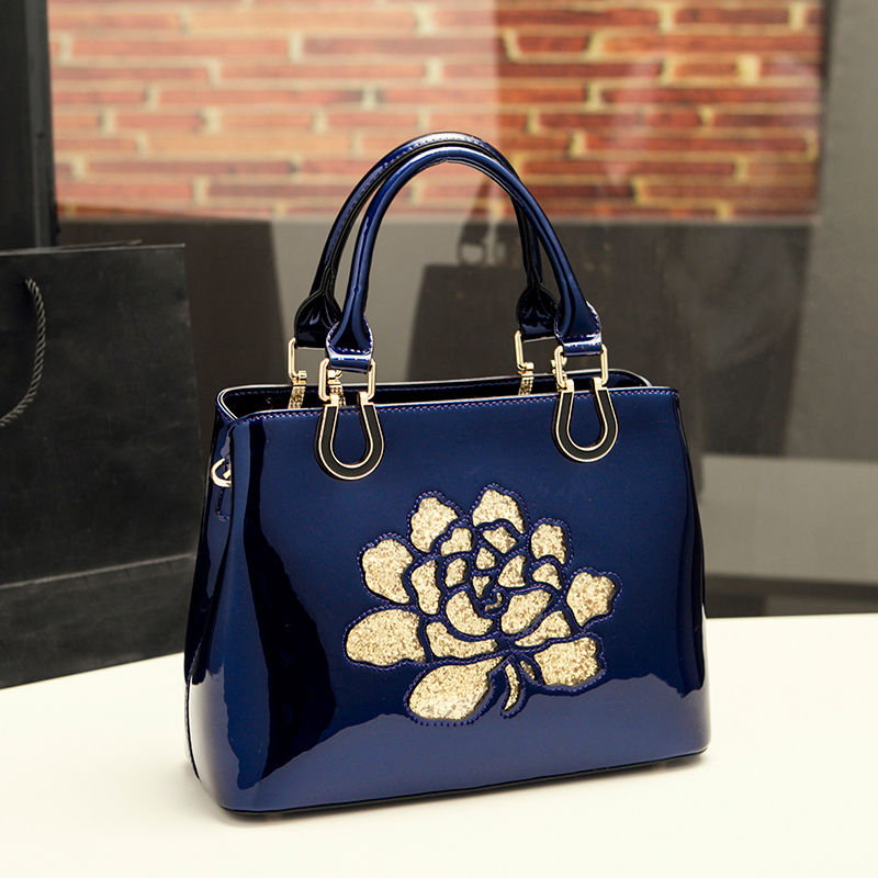 Luxury women leather handbag designer high quality ladies wedding hand bag patent leather shoulder tote clutch famous brands sac ycustbag painting handbag women famous brands 30cm gold hardware designer high quality real leather shoulder tote bag with scarf