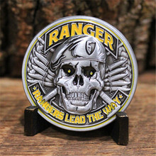 цена DHL Free Shipping 50pcs/lot, US Army Ranger Challenge Coin 1775 Army Strong Patriotism Rangers Lead The Way coins онлайн в 2017 году