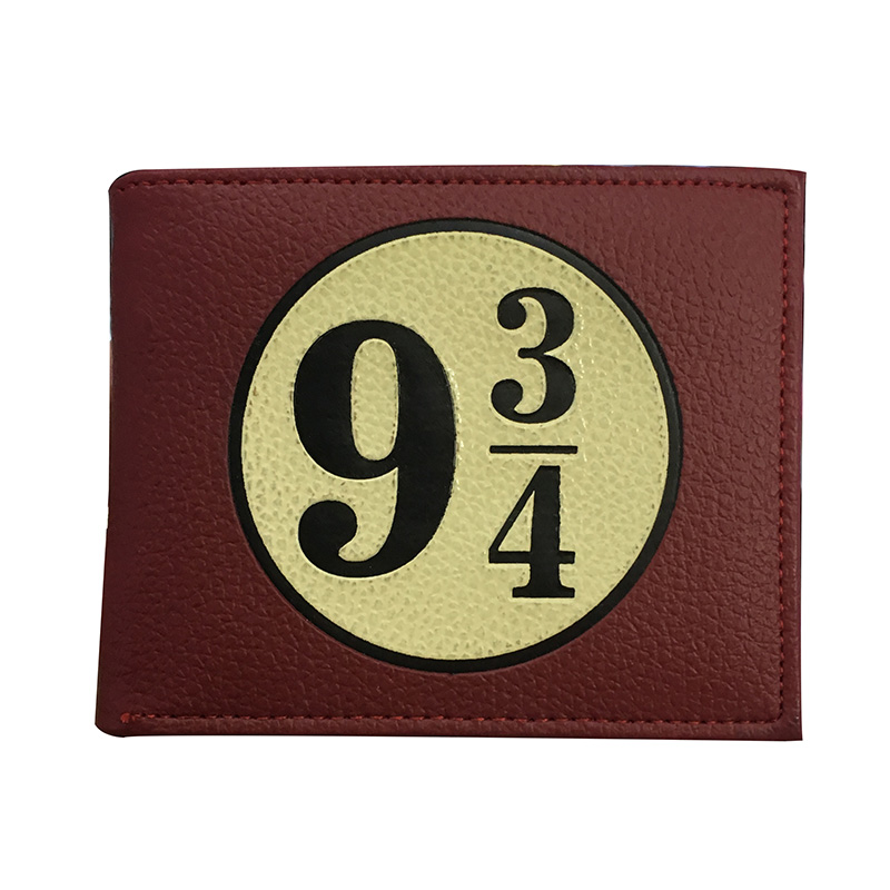 цены Anime Harry Potter Wallet Men Woman Leather Card Holder Purse with Zipper Coin Pocket Dollar Price Gifts Boy Girl Short Wallets