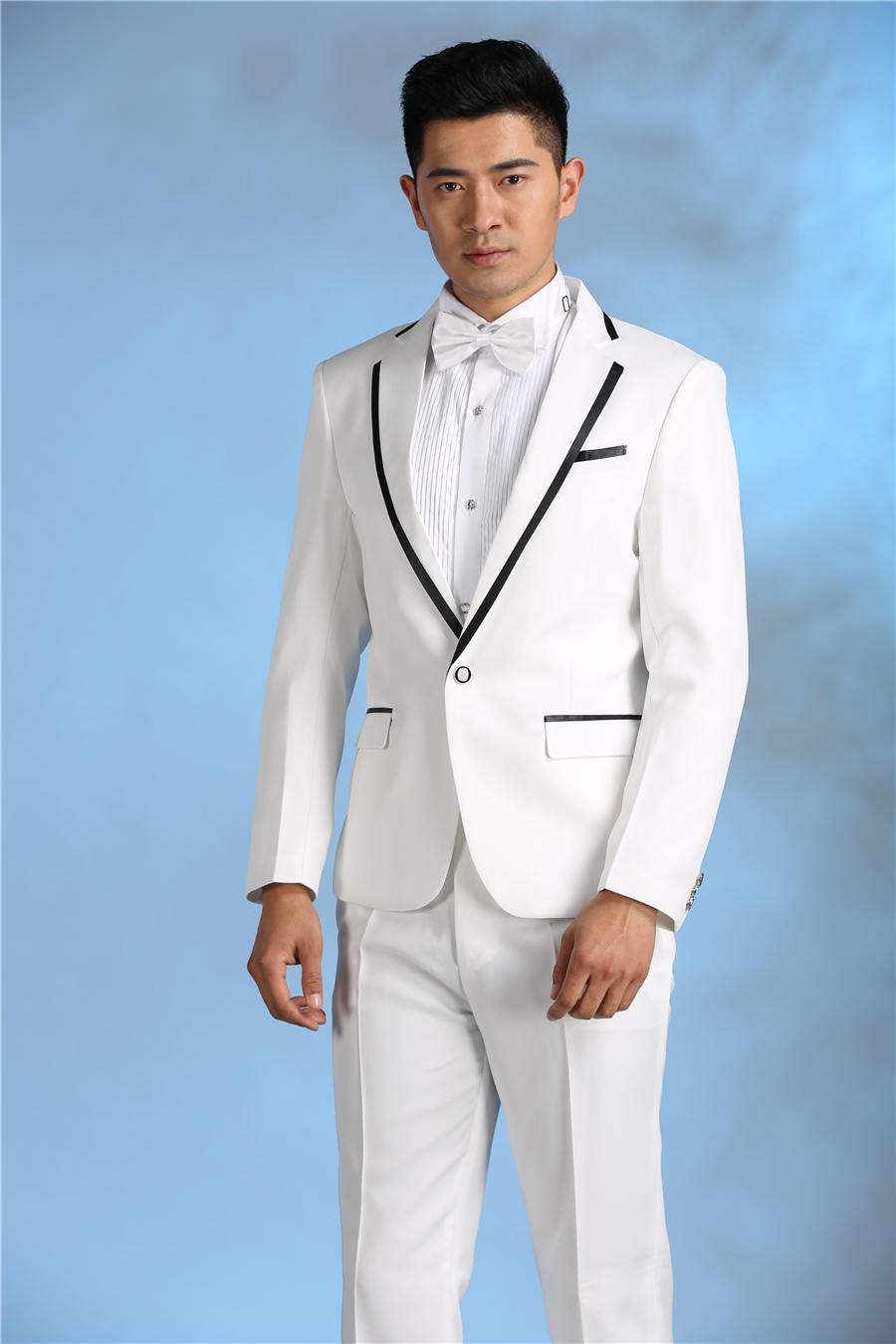 Western Fashion Latest Men Wedding Suits Collection One of the famous brands that is working on grooms-wear is Stephen Bishop, giving the classic and mind-blowing western dresses for grooms. The suits fashion is not only embraced in American regions, and English countries but also in Asian countries as well as in Pakistan, India, etc.