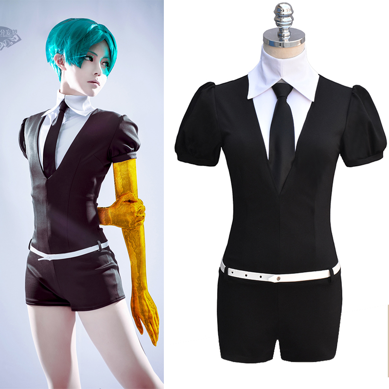 Land of The Lustrous Cosplay Costumes Phosphophyllite Cinnabar Diamond Bort Morganite Antarcticite Jumpsuits Suits Uniform Anime