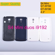 10Pcs/lot For Samsung Galaxy S4 mini duos GT-i9192 i9190 i9195 Housing Battery Cover Back Cover Case Rear Door Chassis Shell