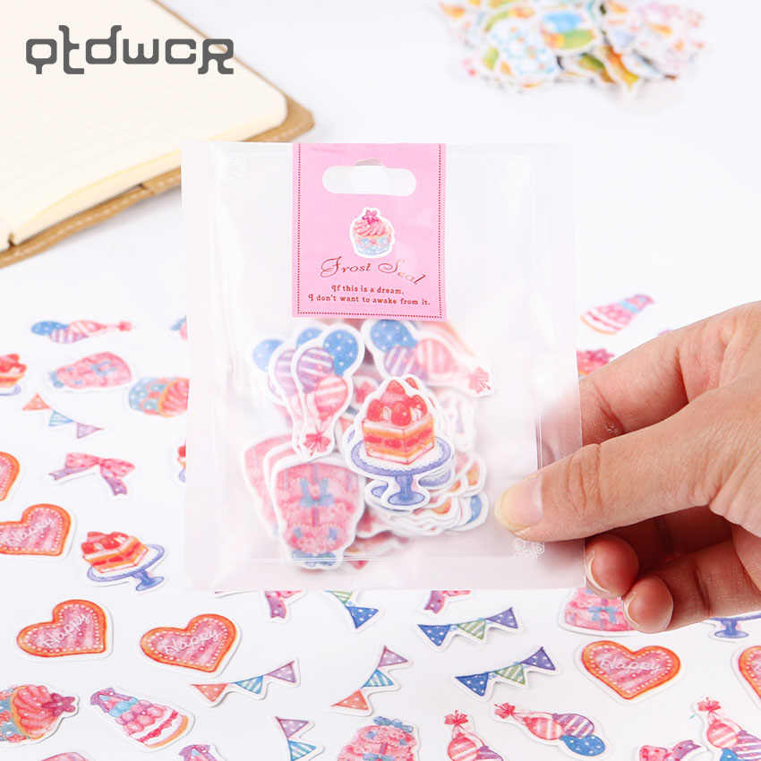 70PCS/1set DIY Stationery Sticker Watercolor Diary Stickers  Decorative Scrapbooking Sticky Escolar School Supplies