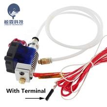 3D Printer Parts E3D V6 Hotend Kit 0.4/1.75MM J-head Remote extruder 12V 24V with Cooling Fan Teflon tube