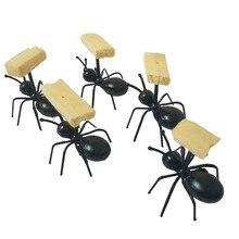 12 шт./компл. мини-вилка для фруктов в форме муравья столовые приборы Пластик Десертные Вилки для торта Еда Палочки посуда для вечерние украшения