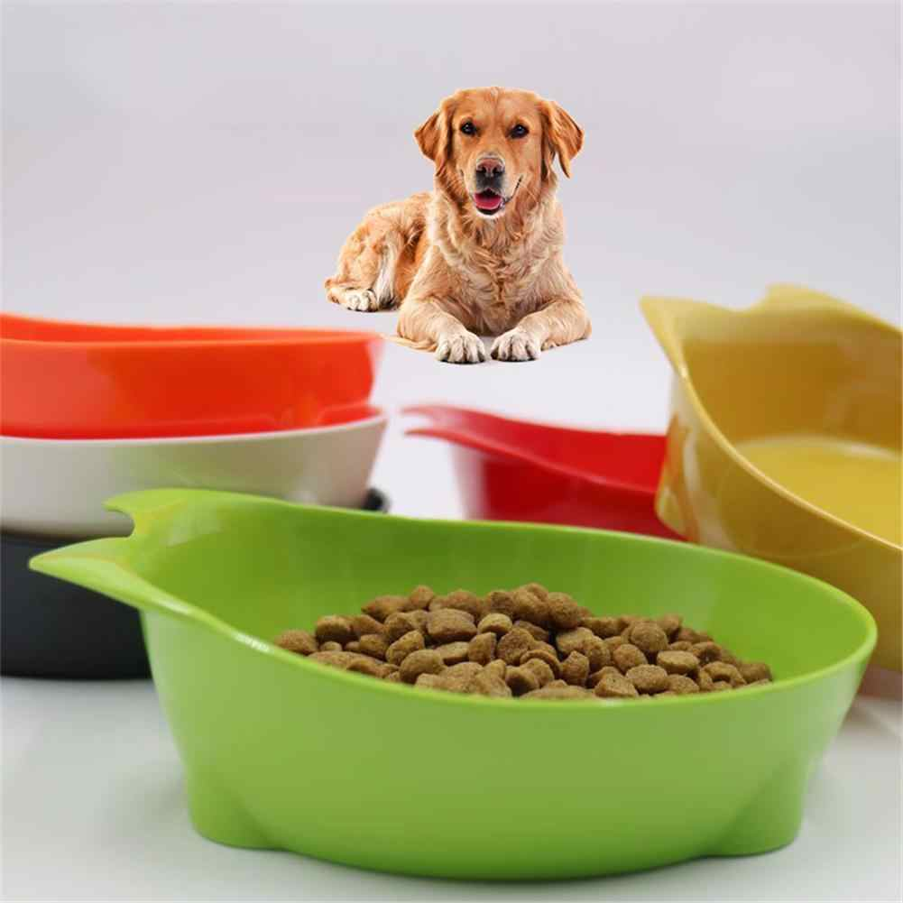 Wholesale New Pet Bowl Cat-shaped Melamine Solid Color Flat-bottom Cat Ears  Dog Bowl Cat Bowl Puppy Pet Cats Dogs Food Feeder