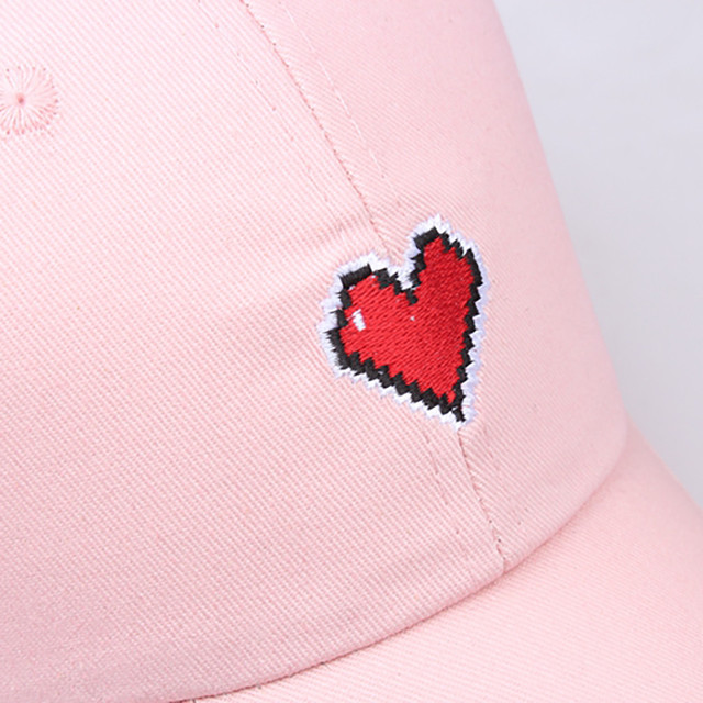 Casual Adjustable Love Heart Printed Unisex Baseball Cap