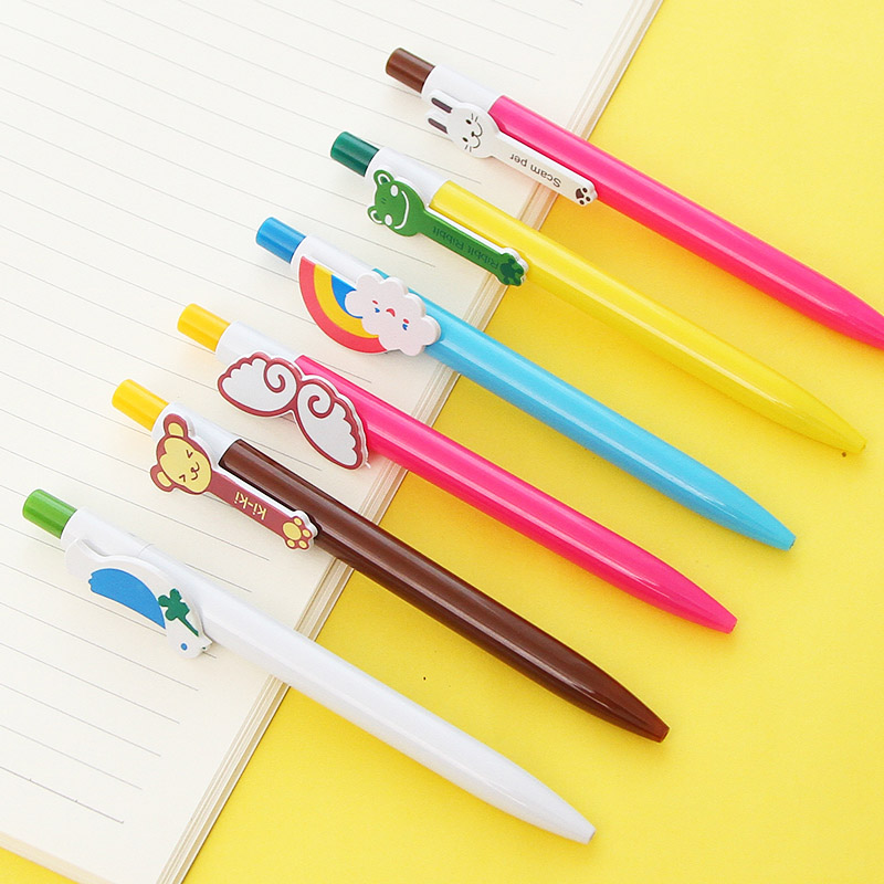 Pens, Pencils & Writing Supplies Cute Animals Ballpoint Pen Catoon Bird Cat Frog Monkey Butterfly Ball Pens For Kids Writing Gift Office School Supplies