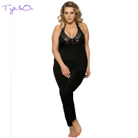 TryMeOn Serve Time Department Neck Sexy Night Woman Summer Pajamas Exotic Apparel Sets Sleepwear