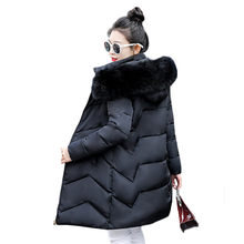 Winter Coat Women White Khaki Black M-3XL Plus Size Thick Big Fur Hooded Parka 2019 New Autumn Korean Fashion Down Jacket LD426(China)