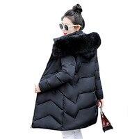 Winter Coat Women White Khaki Black M 3XL Plus Size Thick Big Fur Hooded Parka 2019 New Autumn Korean Fashion Down Jacket LD426