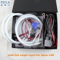 Ultra Bright 4 131mm 3014 SMD LED Angel Eyes For BMW E46 E39 E38 E36 Projector