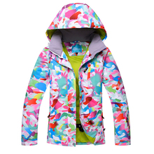 HOTIAN Women Ski Jacket Snowboard Waterproof Windproof Snow Clothes Outdoor Coat Female