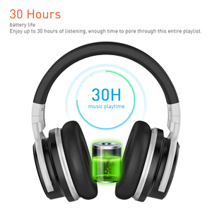 Image 5 - Meidong E7B активный Шум шумоподавления наушники Bluetooth Беспроводной гарнитура с микрофоном за ухо стерео глубокий бас 30 часов проигрывания