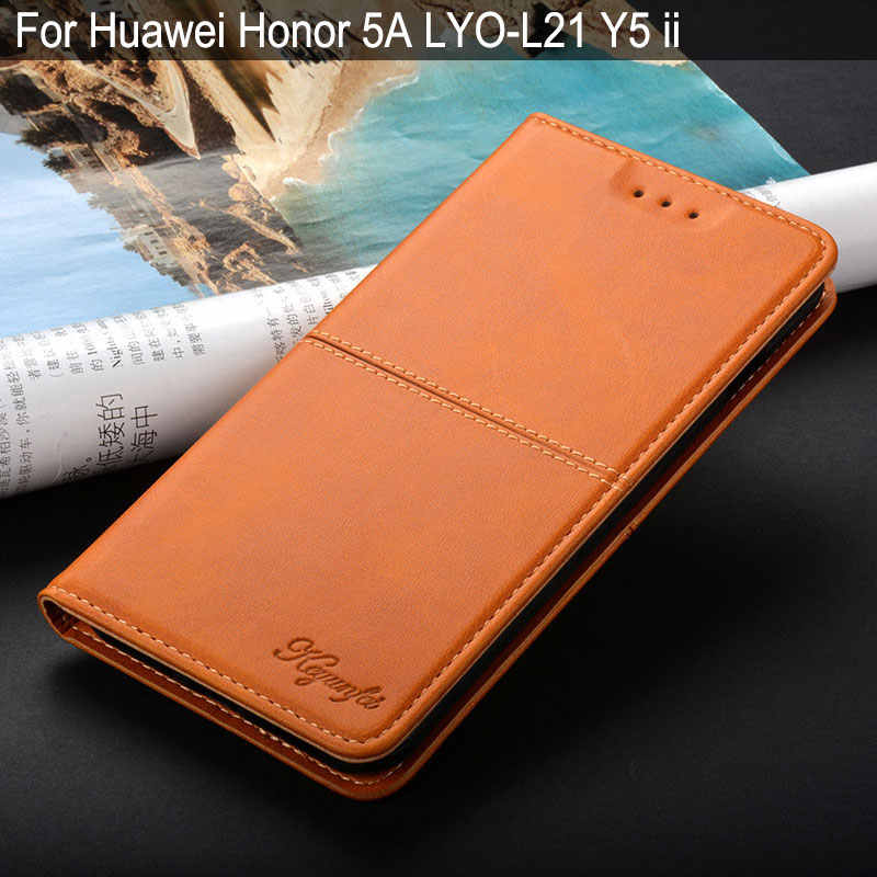 Case for Huawei Honor 5A LYO-L21 Y5 ii luxury Vintage Leather Flip cover coque with stand for huawei honor 5a case funda capa