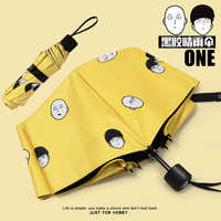 Japan Anime Mob Psycho 100 ONE PUNCH-MAN Saitama Shigeo Kageyama Cosplay Folding Sun Rain Umbrella Men Women Anti-UV Travel Gift