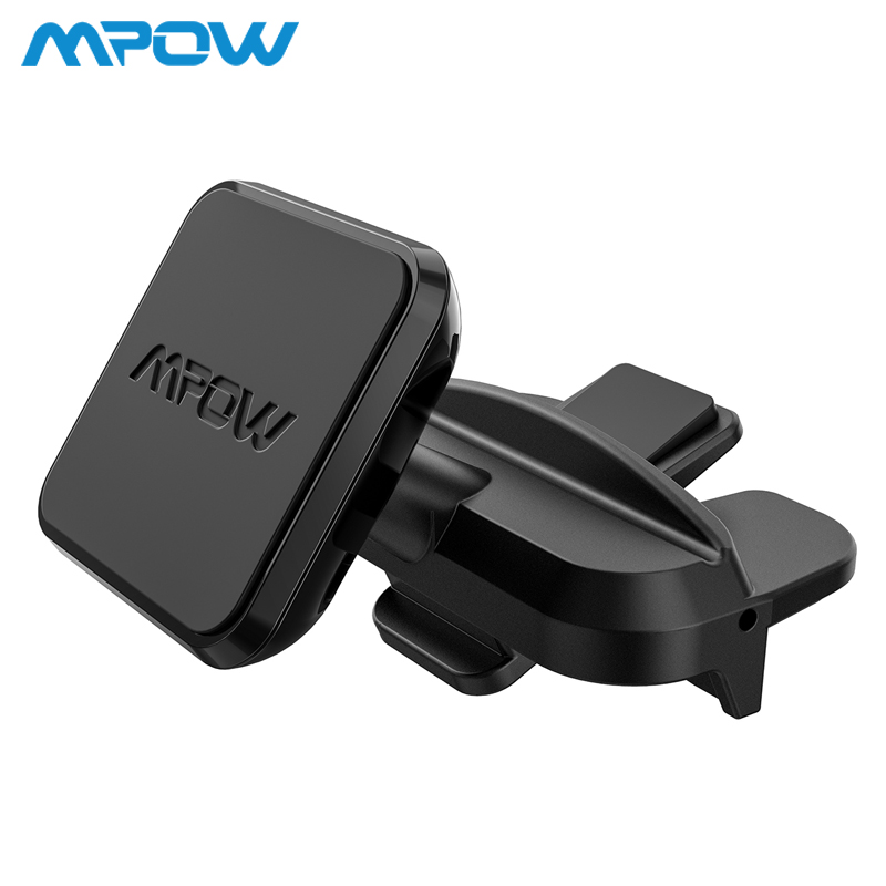Mpow CA098 Universal magnético teléfono coche montaje CD ranura coche soporte para teléfono para coche instalación de un paso 360 grado giratorio