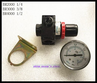 1Pcs BR4000 Pneumatic Air Pressure Regulator G1 2 With Gauge And Bracket Brand New