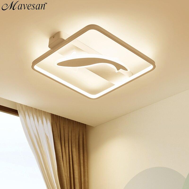 Projeto dos peixes acrílico crianças levaram luzes de teto para sala de estudo de Iluminação luminárias lampe plafones de techo levou 10-15square metros