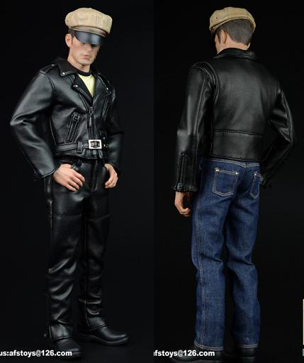 1:6 Black Fashion Men Jacket Male Clothes for 12/'/' Figure Body Toy Accessory