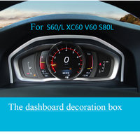 Tuning Special Instrument Panel Decorative Frame Stainless Steel For Volvo XC60 S60 S80V60 Auto Accessories Interior