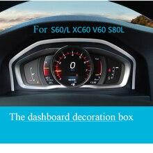 Panneau décoratif, cadre dinstruments, en acier inoxydable, accessoires dauto pour Volvo XC60 S60 S80V60, habillage de voiture